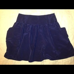 Urban outfitters navy and white polka dot skirt