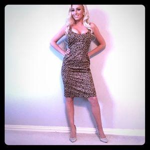 Oasis leopard cheetah pencil dress