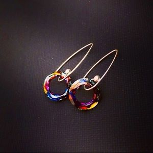 Jewelry - RESTOCKED Swarovski Cosmic & Sterling Earrings