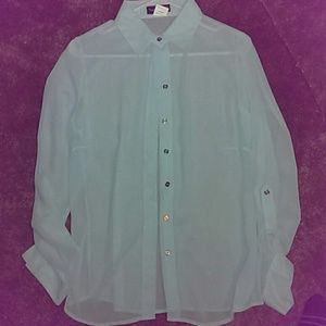 Long sleeve blouse light turquoise