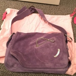 Juicy Couture Purple Suede Handbag.