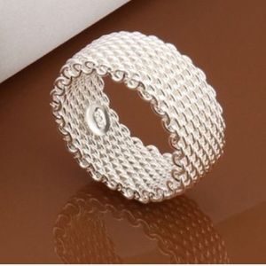 Jewelry - Sterling Silver Mesh Band Ring