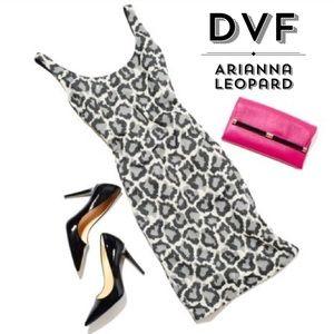 Diane Von Furstenberg Arianna Leopard Black Ivory