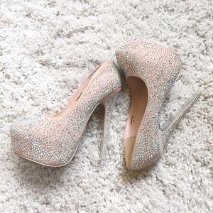 Mascotte Diamond Studded Platform Heels
