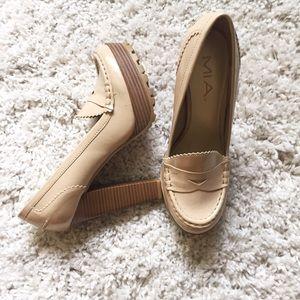 MIA Oxford Style Platform Chinky Heels