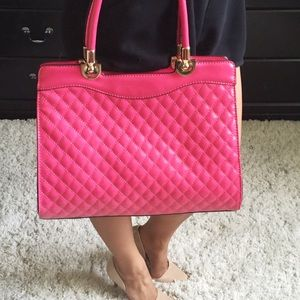Hot Pink Large Hand Bag