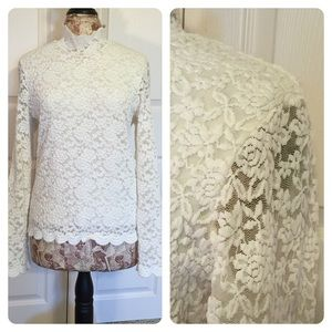 Coldwater Creek white lace top.