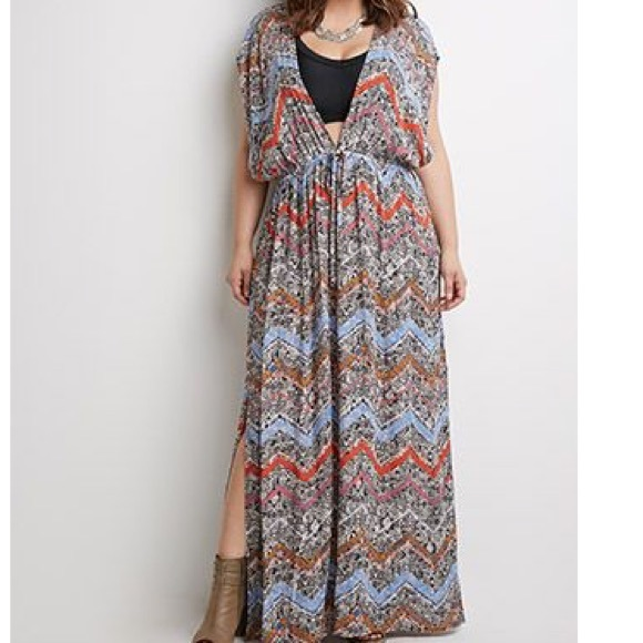 3c9a3a667c4ef Forever 21 Dresses & Skirts - Forever 21 Plus size Maxi Dress / Beach Cover  Up