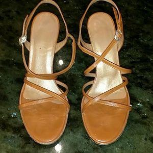 Bebe Luglea Caramel Tan Stiletto Heels 7B
