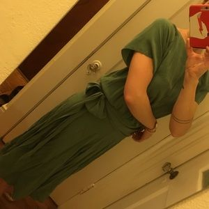 AMAZING 40's does 20's vintage sea foam silk dress