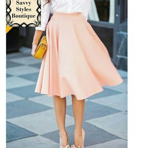 Boutique  Dresses & Skirts - Pink Midi Skirt