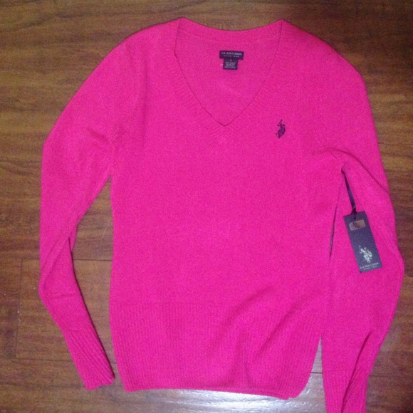 61% off Polo Sweaters - Hot Pink Polo Pullover Sweater from Kara's ...