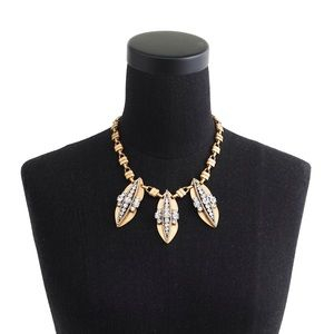 NEW J. Crew Crystal Pea Pod Necklace