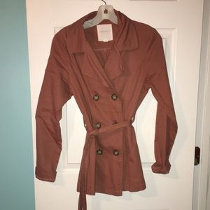 Burnt Orange Trench Coat