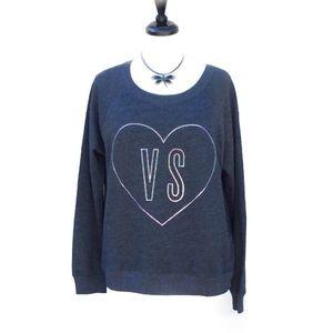 Victoria's Secret Tops - 🌹HP NWT Victoria's Secret Gray Sweatshirt Large