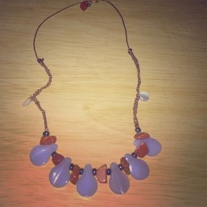Handmade goldstone necklace