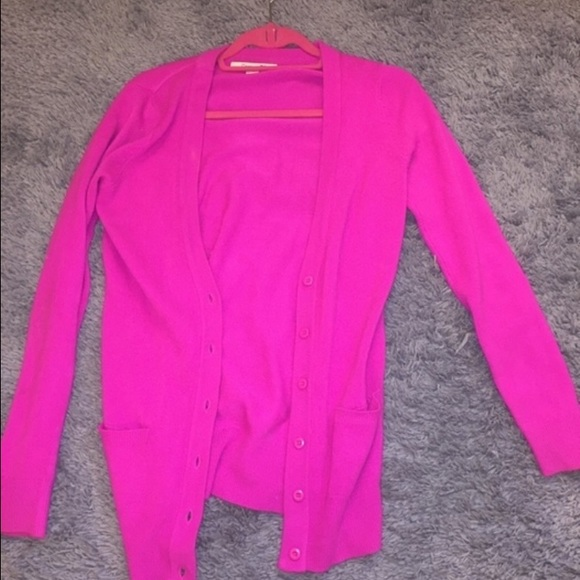 56% off Forever 21 Sweaters - Bright Hot Pink Cardigan from ...