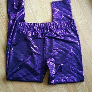7c8058dc581 Pants - NWOT PLUS SIZE mermaid leggings purple 1x 2x