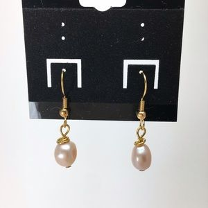 14kt Gold Plated Pink Freshwater Pearl Earrings