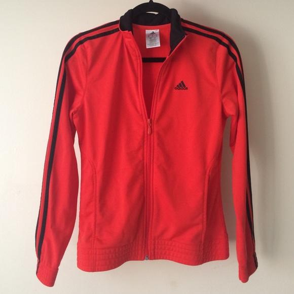 Adidas Jackets   Blazers - Adidas Red and Black Track Jacket (Womens) 8cba42cb22