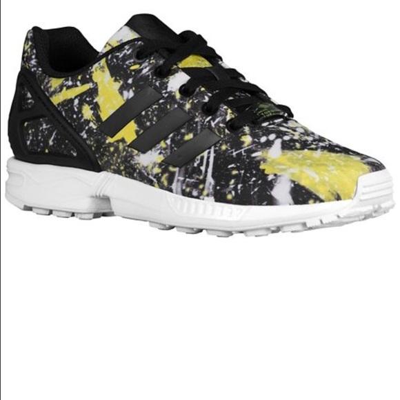 Adidas Zx flux black yellow size 6.5y gradeschool Boutique