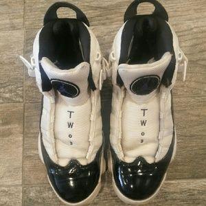 two 3 jordan shoes