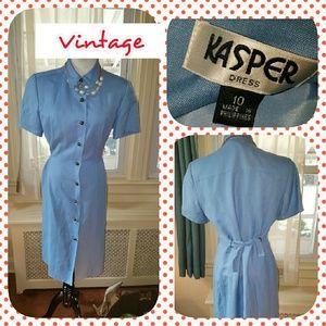 VTG Kasper Linen career dress M