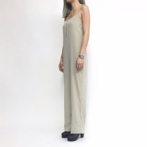 T by Alexander Wang Pants - NWOT T by Alexander Wang Silk Jumpsuit in Ivory