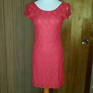 💣Dark coral dress