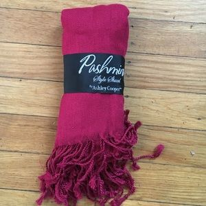 Accessories - Never worn!!!  Red pashmina scarf