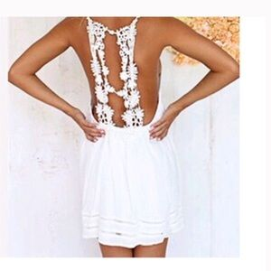LF Dresses & Skirts - beautiful boho white lace spring summer dress S