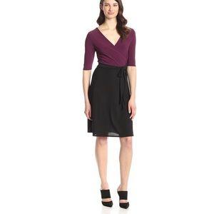 Dresses & Skirts - Purple and black Wrap Dress