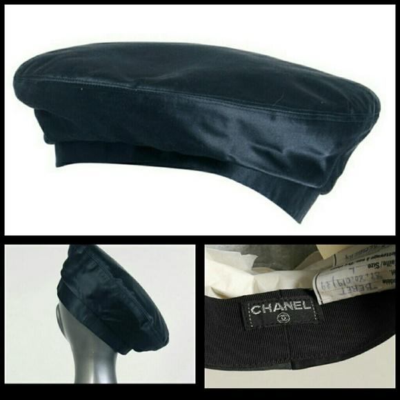 4cbff0fd9e5 CHANEL Accessories - Rare Vintage CHANEL Silk Beret