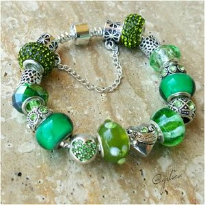 Salty Grace  Jewelry - Peridot, Daughter I love you, charm bracelet