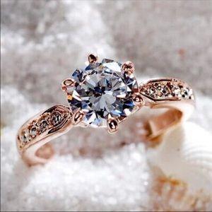 Jewelry - Rose Gold 2.00 Carat CZ Diamond Ring
