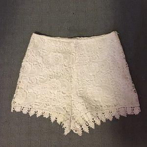 NWT white lace shorts