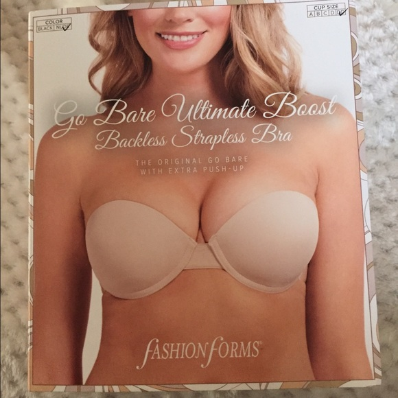 fbea9b9b28ccb Fahion forms Other - Go bare ultimate boost backless strapless bra! New