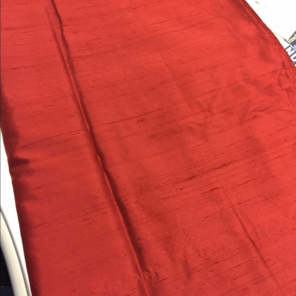 pottery barn other red henna pottery barn dupioni silk drapes - Silk Drapes