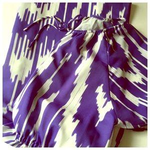 J. Crew purple ikat dress