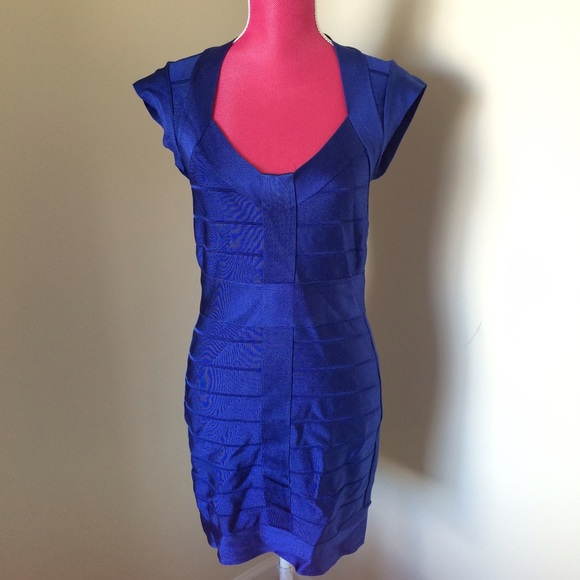 French Connection Dresses - French Connection bandage dress - Royal blue