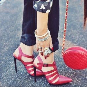 Edgy Red Heels from Shoe Cult by Nasty Gal.