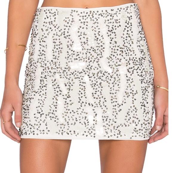 d5ad10d67e REVOLVE Skirts | Raga White Beaded Skirt | Poshmark