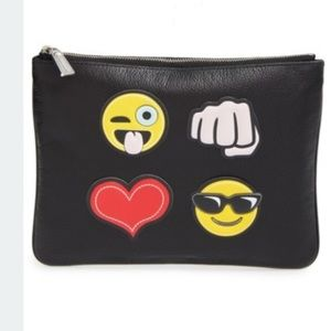 Rebecca Minkoff Handbags - FINAL PRICE Rebecca Minkoff Black Emoji Clutch