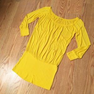 CLEO CASUAL Yellow Mini Dress