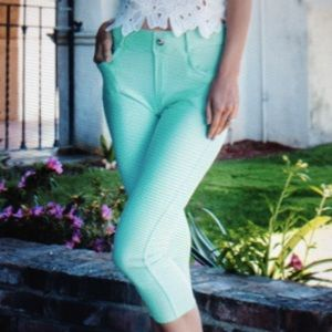 Pants - COLOR MINT-JEGGING