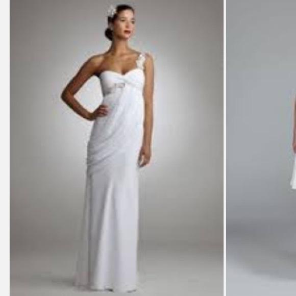 44% off David\'s Bridal Dresses & Skirts - Davids Bridal chiffon one ...