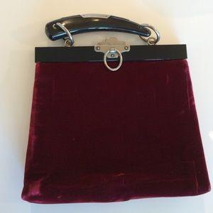 64% off Yves Saint Laurent Handbags - Red Velvet Vintage YSL ...