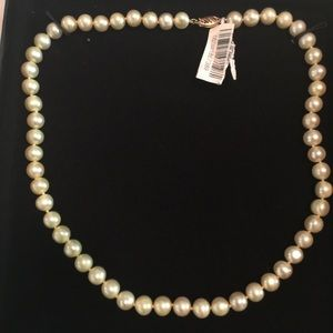 Pearl and 14k Gold Necklace - New - Macy's.