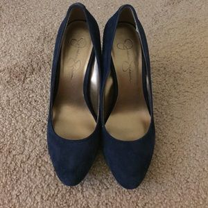 Jessica Simpson Blue Suede Pumps