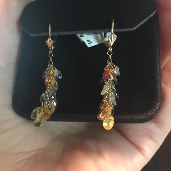 Macy S Jewelry Topaz14k Gold Earrings New Macys Poshmark
